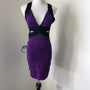 BEBE Cutout Bodycon Dress New Rare
